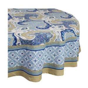 French Country Kitchen Table Cloth AZURITE Tablecloth ROUND Cotton 180cm New