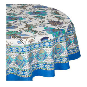 French Country Kitchen Table Cloth CORFU Tablecloth ROUND Cotton 180cm New
