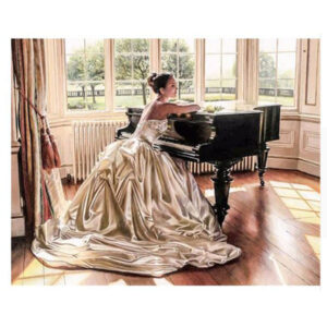 5D Diamond Painting Full Image Square Drills LADY ON PIANO 30x40cm New