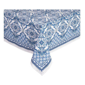 French Country Kitchen Table Cloth LAPIS Tablecloth Cotton 150x220cm New