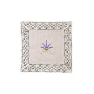French Country Doiley LAVENDER and LACE Doily for Table or Duchess 25x25cm New