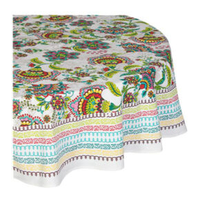 French Country Kitchen Table Cloth VIENNA Tablecloth ROUND Cotton 180cm New