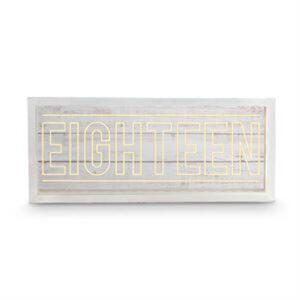 Wishing Well WHITEWASH Wooden LED EIGHTEEN 18th Birthday Card Box New
