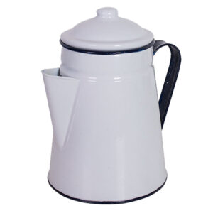 French Country Metal Retro Kitchen WHITE JUG Good for Utensils New