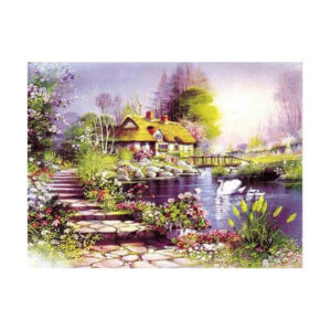 5D Diamond Painting Full Image Square Drills COTTAGE SWANS 30x40cm New