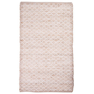 French Country Floor Mat Rectangle Woven Manila Jute Cotton 60x90cm