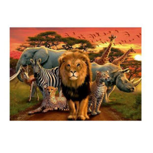 5D Diamond Painting Full Image Square Drills AFRICAN ANIMALS 30x40cm New