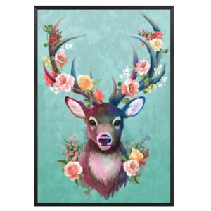 5D Diamond Painting Full Image Square Drills BOHO DEER ROSES 30x40cm New