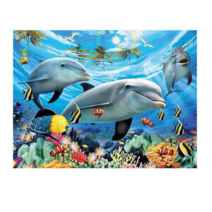 5D Diamond Painting Full Image Square Drills OCEAN DOLPHINS 30x40cm New