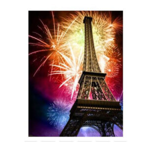 5D Diamond Painting Full Image Square Drills EIFFEL TOWER FIREWORKS 40x50cm New