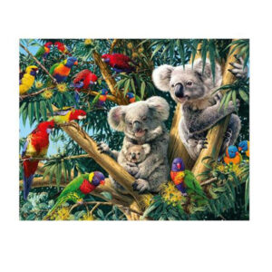 5D Diamond Painting Full Image Square Drills KOALA AND PARROTS 40x50cm New