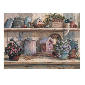 5D Diamond Painting Full Image Square Drills GARDEN SHED SHELVES 30x40cm New