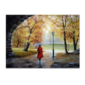 5D Diamond Painting Full Image Square Drills RAINING LADY TUNNEL 30x40cm New