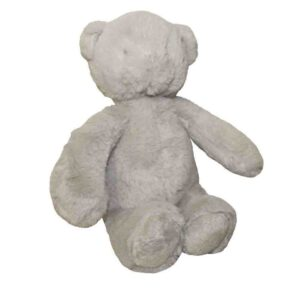 Cuddly Plush Teddy Bear Pale Grey Fur Childrens Toy 30cm Sitting New