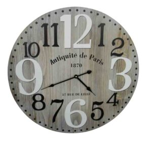 Clock French Country Vintage Wall Hanging 58cm ANTIQUITE DE PARIS 1870 New