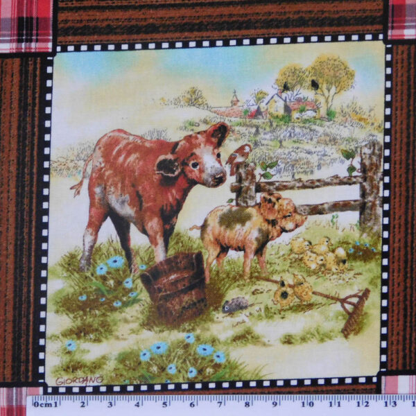 Patchwork Quilting Sewing Fabric BARN YARD BABIES Panel 30x110cm New
