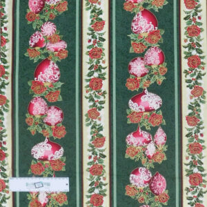 Patchwork Quilting Sewing Fabric FESTIVE SEASON GREEN Border 50x55cm FQ New