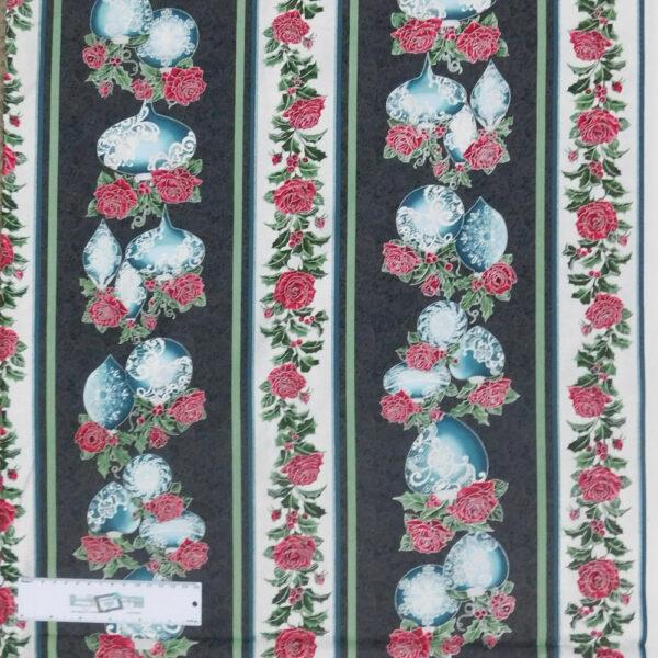 Patchwork Quilting Sewing Fabric FESTIVE SEASON BLUE Border 50x55cm FQ New