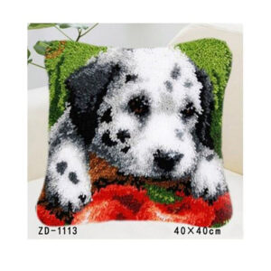 Crafting Kit Latch Hook with Canvas, Hook and Precut Threads DALMATION DOG New