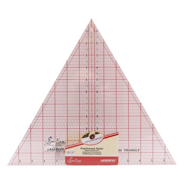 "Quilting Patchwork Sewing Template 60Deg 12X13.87"" Inch Triangle Sew Easy New"