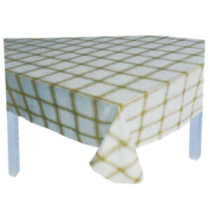 Country Style New Table Cloth CHECK GOLD Tablecloth RECT 140x185cm New