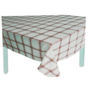 Country Style New Table Cloth MAPLELEAF CHECK RED Tablecloth RECT 135X180cm New
