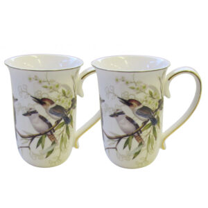 French Country Chic Kitchen 405mm Tea Coffee Mugs KOOKABURRA Set of 2 New