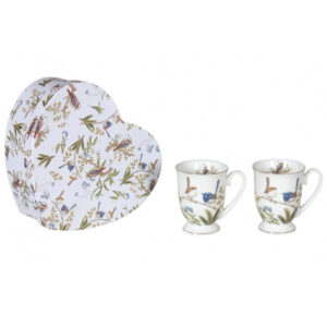 French Country Chic Kitchen 280mm Tea Mugs AUSTRALIAN BIRDS Set of 2 New Giftboxed