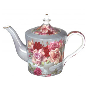 French Country Lovely Kitchen Teapot SERENITY ROSE China Tea Pot with Giftbox New