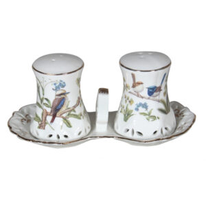 French Country Chic Collectable Kitchen Salt and Pepper Set AUSTRALIAN BIRDS New