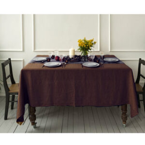 Country Style New Table Cloth KILDARE CHOCOLATE Tablecloth RECT 150x230cm New
