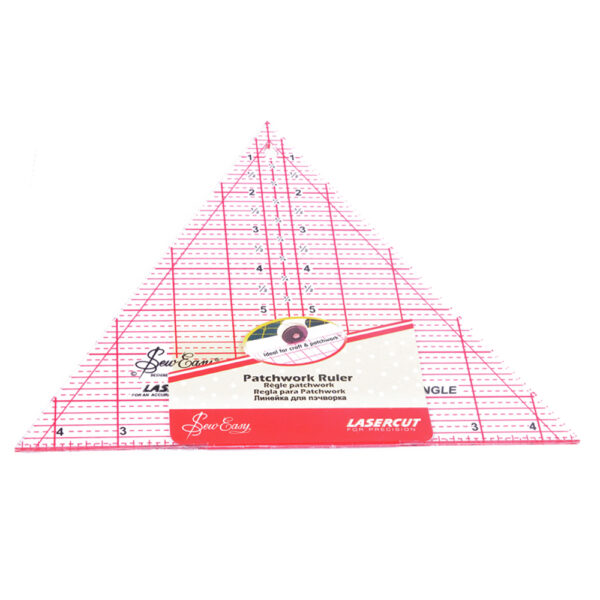 """Quilting Patchwork Sewing Template 60Deg 8X9.5"""" Inch Triangle Sew Easy New"""