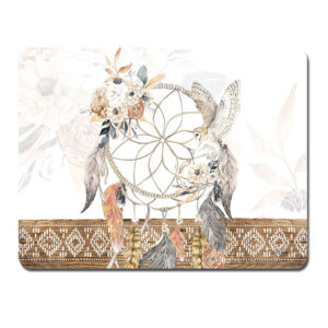 Kitchen Cork Backed Placemats AND Coasters BARN OWL DREAMCATCHER Set 6 New