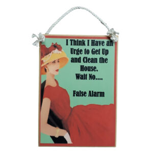 Country Printed Quality Wooden Sign with Hanger URGE TO CLEAN Funny Plaque New