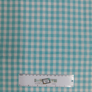 Quilting Patchwork Sewing Fabric AQUA GINGHAM CHECK 50x55cm FQ New