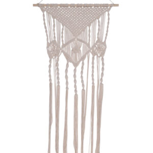 French Country Vintage Inspired Boho Cream MACRAME with TWISTS New