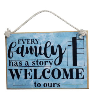 Country Printed Quality Wooden Sign OUR FAMILY STORY Plaque New