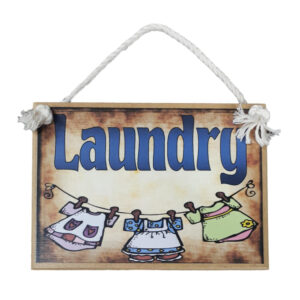 Country Printed Quality Wooden Room Door Sign LAUNDRY New Plaque