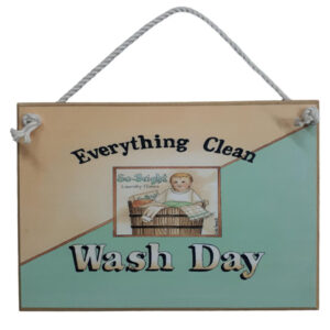 Country Printed Quality Wooden Sign LAUNDRY WASH DAY Plaque New