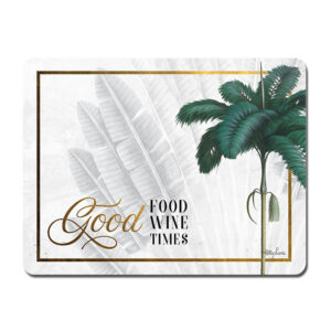 Kitchen Cork Backed Placemats AND Coasters ST BARTS GOOD FOOD Set 6 New