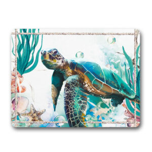 Kitchen Cork Backed Placemats AND Coasters SEA TURTLE OCEAN Set 6 New