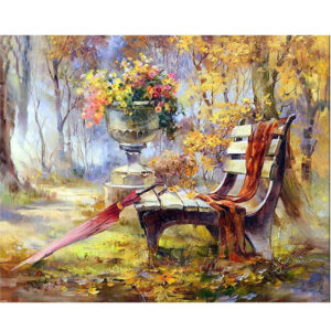 5D Diamond Painting Full Image Square Drills BENCH SEAT 30x40cm New