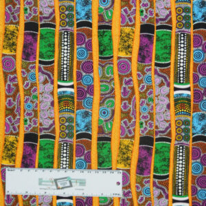 Quilting Patchwork Sewing Fabric PURPLE DIDGERIDOO 50x55cm FQ New