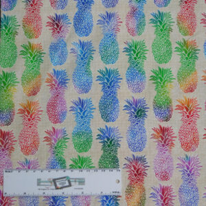 Quilting Patchwork Sewing Fabric TROPICAL PINEAPPLES 50x55cm FQ New