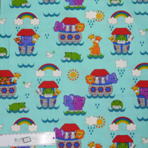 Quilting Patchwork Sewing Fabric LITTLE NOAH ARK 50x55cm FQ New