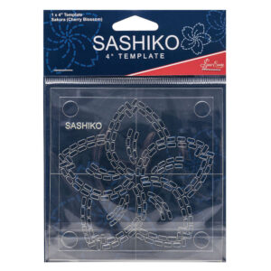 "Quilting Patchwork Sewing SASHIKO CHERRY BLOSSOM Template 4"" New"