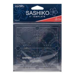 "Quilting Patchwork Sewing SASHIKO WAVES Template 4"" New"