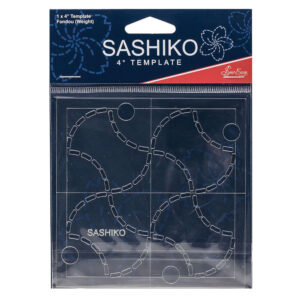 "Quilting Patchwork Sewing SASHIKO FONDOU WEIGHT Template 4"" New"