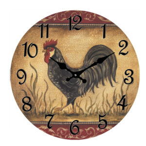 French Country Chic Retro Inspired Wall Clock 30cm ROOSTER New