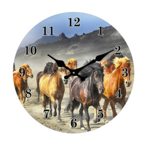 French Country Chic Retro Inspired Wall Clock 30cm BRUMBIES New